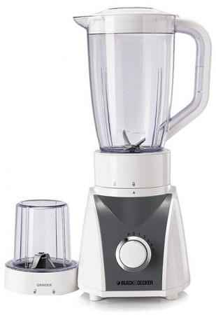 Black & Decker Blender With Grinder Mill, White - Bx560-b5