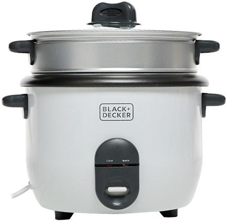 Black & Decker 1.8 Liter Rice Cooker - White, RC1860-B5