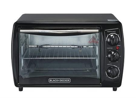 Black & Decker TRO2000R 19 L Toaster Oven with Rotisserie, Black