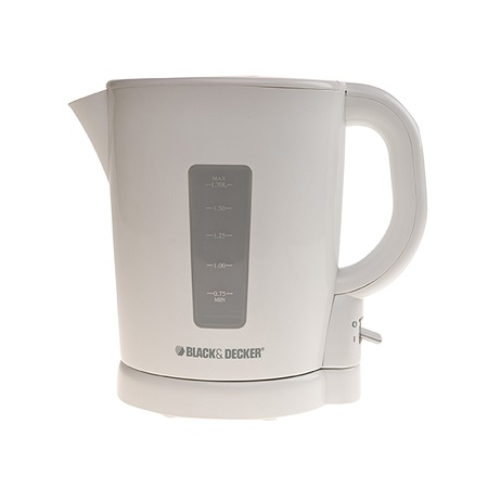 Black & Decker JC250-B5 Electric Kettle with Concealed Coil (1.7 L, White)