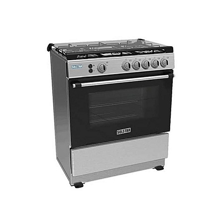 SOLSTAR SO582G-GINB SS: 80*60cm Free Standing Cooker - 5 Gas Burners - Inox