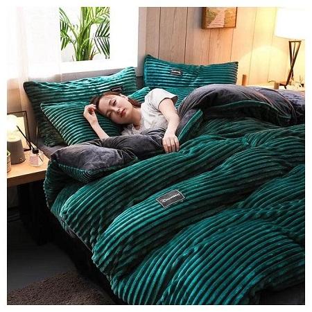Green Fleece Duvet Set