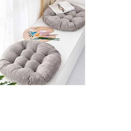 Grey Round Floor Pillow