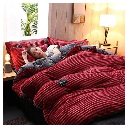 Red Fleece Duvet Set