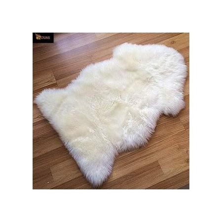 White Faux Fur Bedside Rug