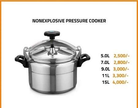 Non-explosive pressure cooker silver 7L