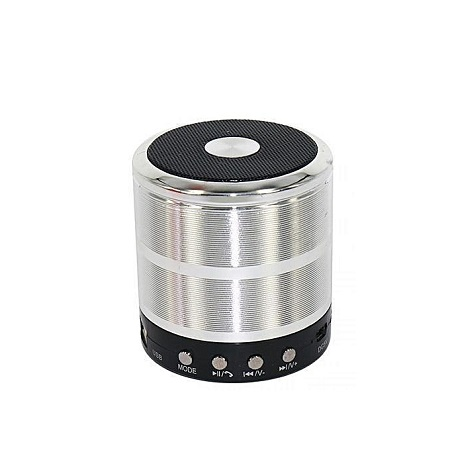 Wster WS-887 - Mini Bluetooth Wireless Stereo Speakers FM, Memory Card, Bluetooth, USB - Silver