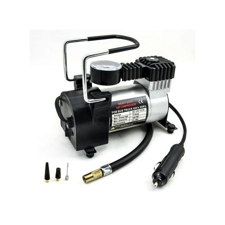 Generic Portable Air Compressor Heavy Duty 12V 140PSI/965kPA Pump Electric Tire Inflator Car Care Tool For SUV CRV Bicycle Compressor 4m pipe and power cable
