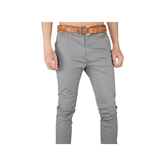Soft Khaki Trouser Stretch Slim Fit