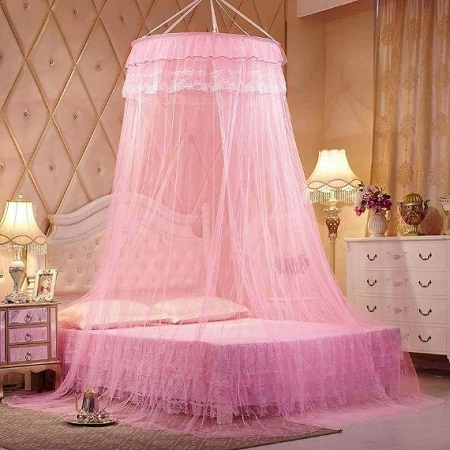 Free size Round Mosquito Net pink