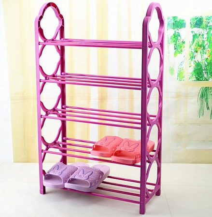 Portable Shoe Rack Color May Vary from Main Image