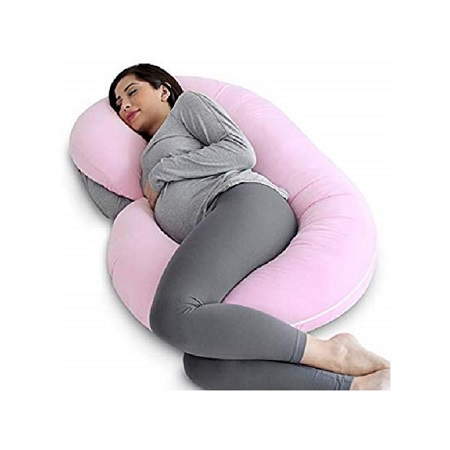 Pregnancy Pillow - U shape Full Body Pillow- Note, the color may vary