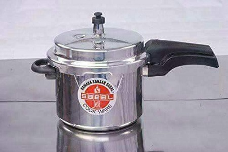 pressure cooker silver normal size
