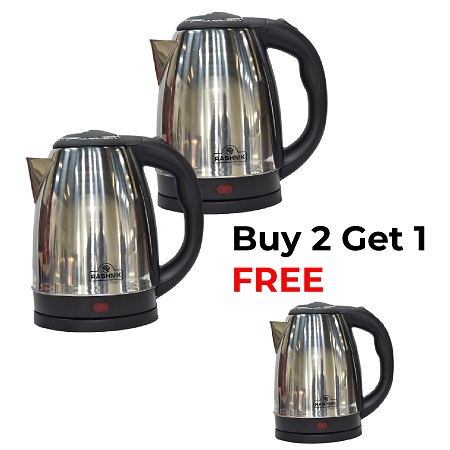 Rashnik 2L Cordless Electric Kettle - Buy 2 get 1 free