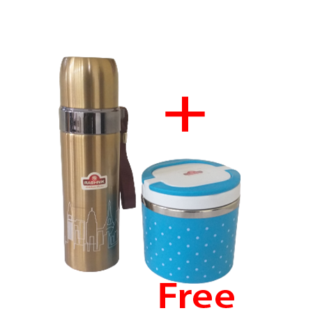 Buy Rashnik RN-1405 Single Layer Lunch Box and Get 1 Flask free