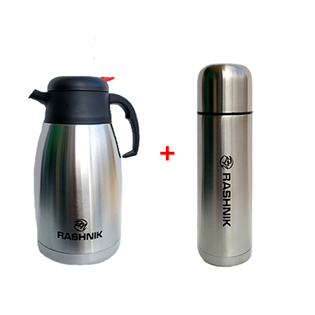 Rashnik Thermos Flask 2L plus Portable Flask 500ml
