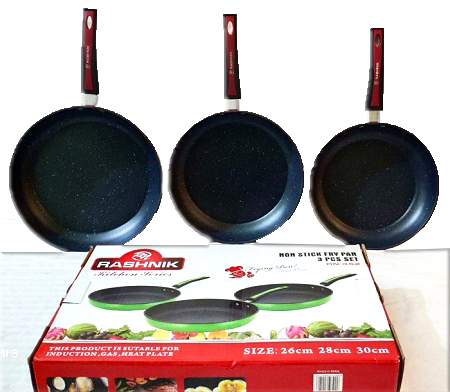 Rashnik Non-Stick Frying Pan- 3 Pieces