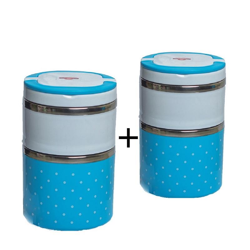 Buy Rashnik RN-1406 Two Layer Lunch Box and Get 1 Free- Random Color
