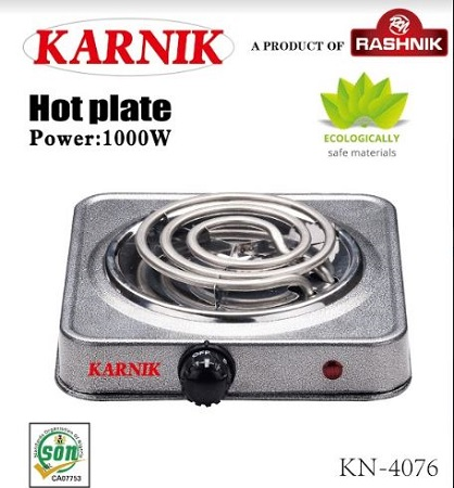 Rashnik KN-4076 Single Coil Electric Burner- Sand coated
