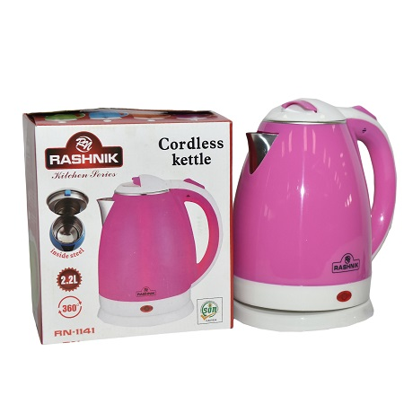 Rashnik RN-1141 Cordless Electric Kettle- Pink