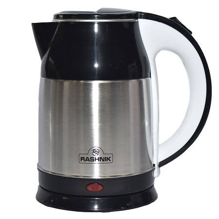 Rashnik RN-1148 Stainless Steel Premium Cordless Electric Kettle- Black