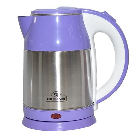 Rashnik RN-1148 Stainless Steel Premium Cordless Electric Kettle- Purple