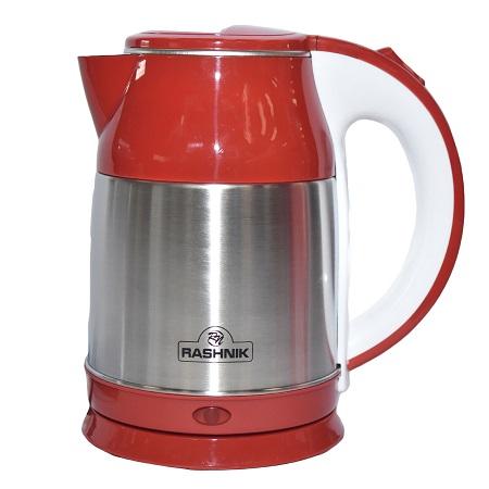 Rashnik RN-1148 Stainless Steel Premium Cordless Electric Kettle- Red