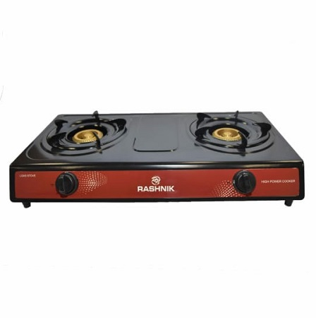 Rashnik 2 Burner Table Top Gas Cooker RN-1509 - Silver And Black