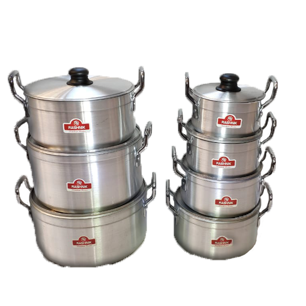 Rashnik RN-4851 7 Piece Aluminium Cooking/ Stew/ Stock Pots Set