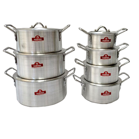 Rashnik RN-4853 7 Piece Aluminium Cooking/ Stew/ Stock Pots Set
