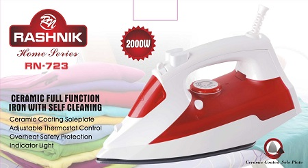 Rashnik RN-723 Ceramic Full Function Iron with Self Cleaning- 2000W