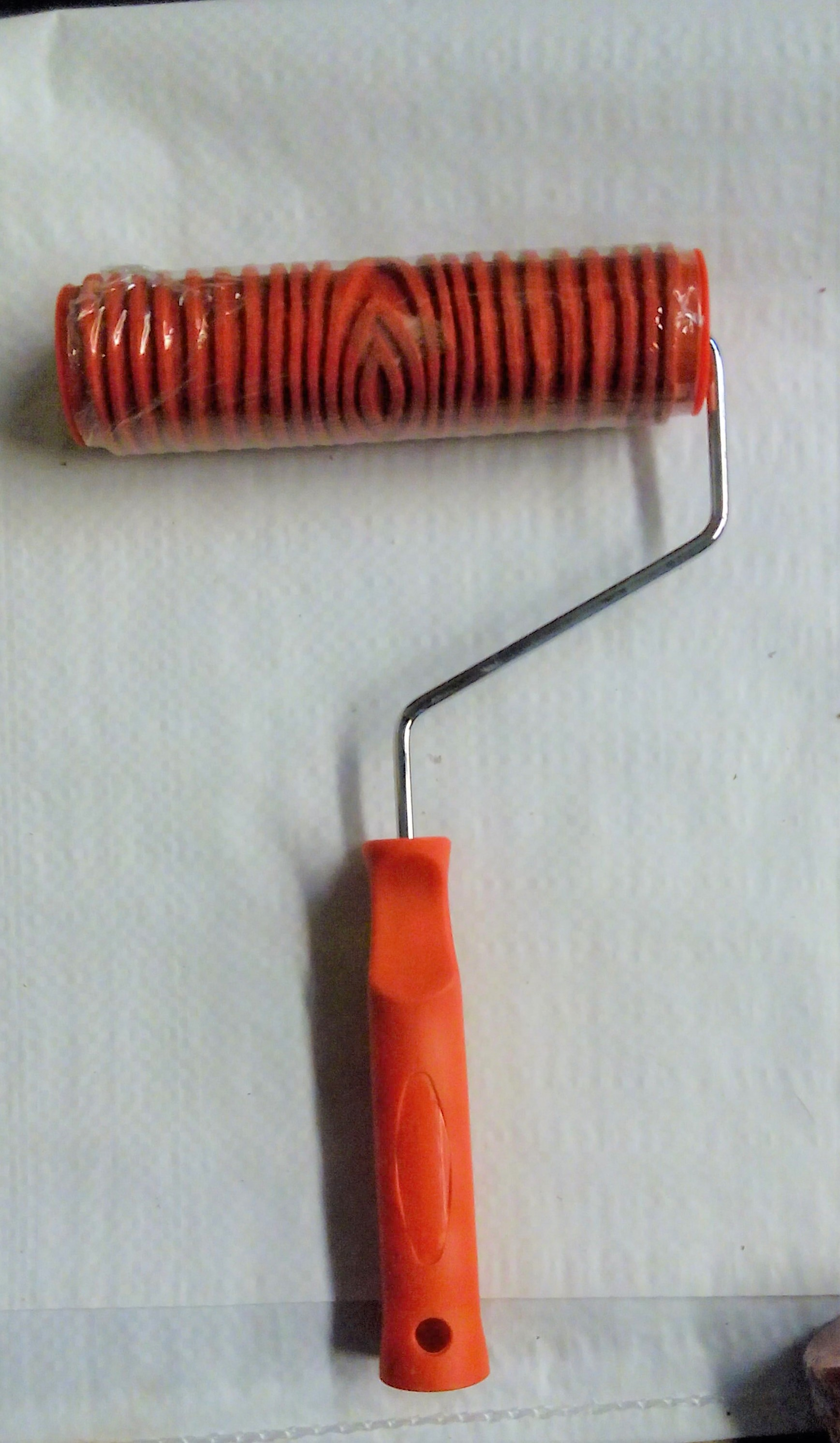 Red Textured Rollers - 7 inches (1501)