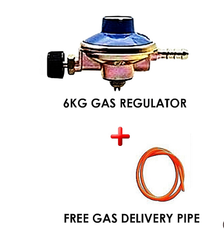 6kg Gas Regulator Plus Gas Delivery Pipe (for 6Kg Gas Cylinder) I metre multicolor normal
