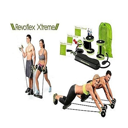 Revoflex xtreme Home Total Body Fitness Gym Revoflex Xtreme Abs Trainer Resistance Exercise Abdominal Trainer