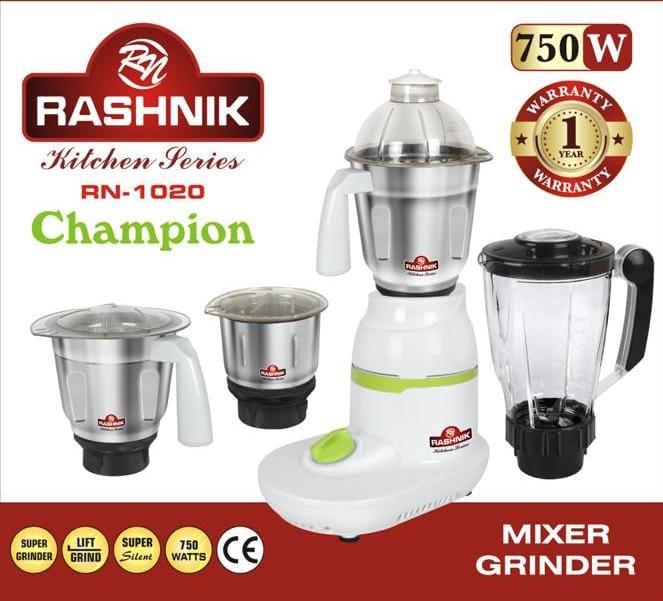 Rashnik Rn-1020 Electric Blender, Mixer And Grinder - 750 Watts