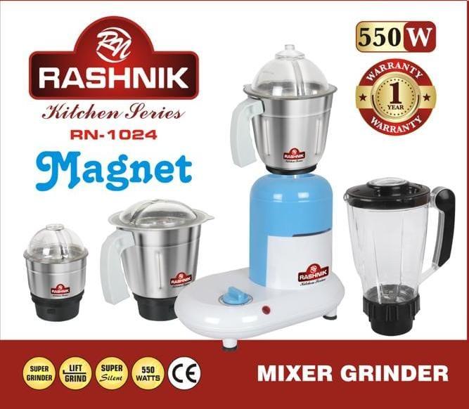 Rashnik Rn-1024 Electric Blender, Mixer And Grinder - 550 Watts