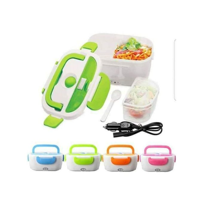 Electric heated Lunch Box Food Warmer with food partitions- RN1471 Random Color