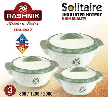 Rashnik Solitare RN-227 High Quality Insulated HotPot- 3 Pieces