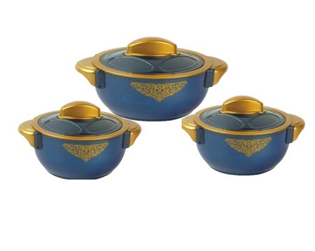 Rashnik Majestic Sparkle RN-228 High Quality Insulated HotPot- 3 Pieces