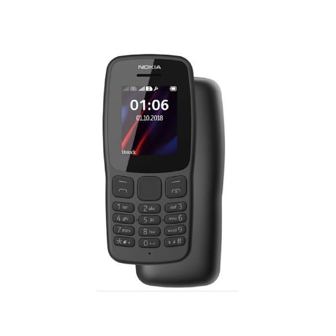 Nokia 106, Dual Sim - 4 MB RAM - DARK GREY