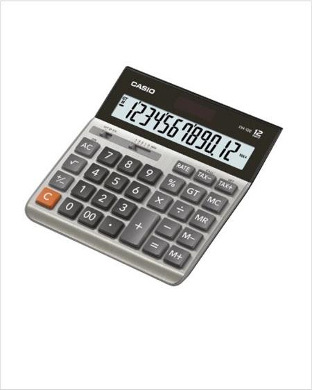 Desktop Calculator Metal Faceplate Casio