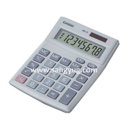 Desk Top Calculator 8 Digits Casio Mx-8S 2 Way