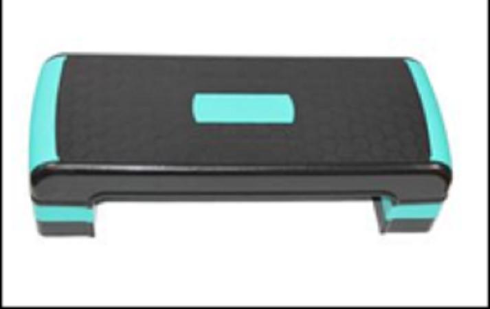 Adjustable Aerobic Step Board, 3 Height Adjustable - M 1 board + 4 risers, 78x38x10/16/21Cm