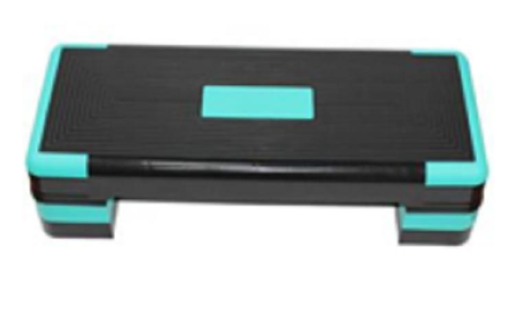 Adjustable Aerobic Step Board, 3 Height Adjustable - L 1 board + 4 risers, 90x34x10/16/21Cm