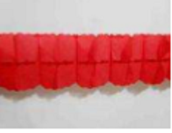 2.8M Red Paper Bow Garland