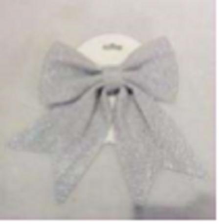 26.5X19Cm Glitter Foam Bow, Silver
