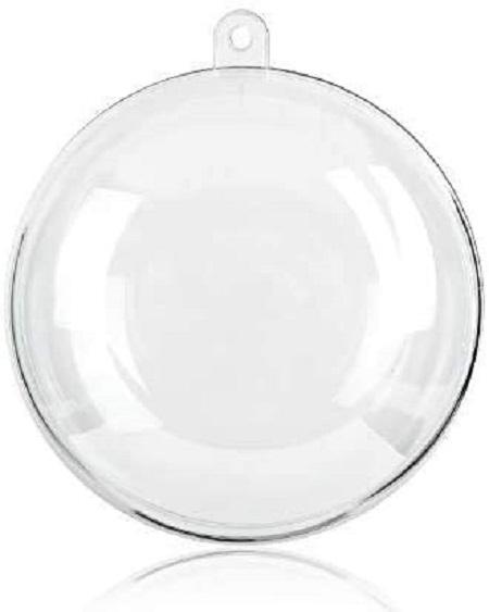 7Cm Silver Foam Mirror Ball, 6Pcs/Pkt