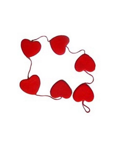 Valentine Red Hearts Six Hanging Type