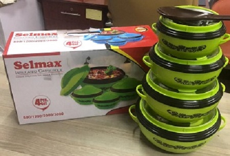 A Set Of 4pcs Selmax Hotpot - With A Serving Spoon