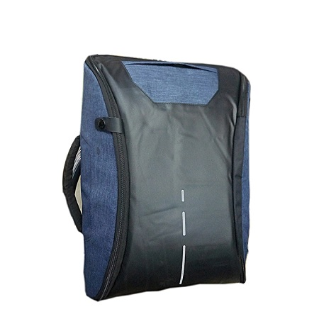 Anti theft Bag With Charging Port Black and Blue